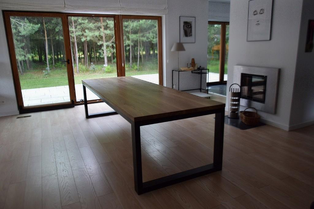 loftowy stół dębowy 3m kedameble 2