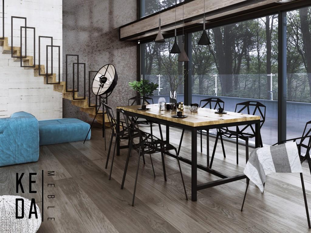 stół drewniany Loftowy stół Rygiel 180x80 stół do jadalni, stół do kuchni, kedamebel