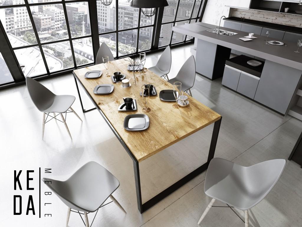 Anabel loft Stół dębowy