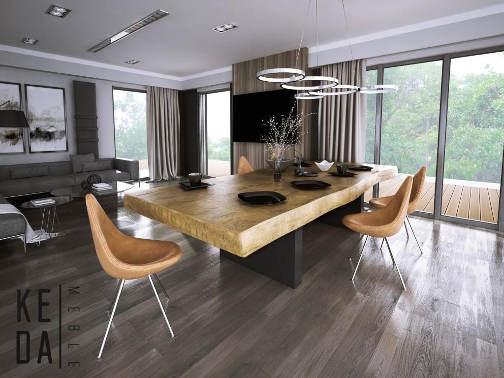 3stół mamut natur Industrialny stół, stół dębowy, naturalny blat, monolit, rozkładany stół dębowy, loft industrial, duzy stół, wrocław, odolanów, poznań