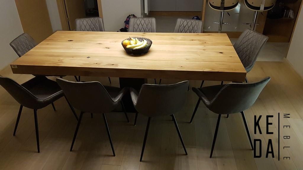 loftowy stół, stół loft, producent stołów, big oak table, stół 2,3x1,1m, duzy stół, stół do jadalni, stół do kuchni, stół do restauracji loft, wrocław, poznań, warszawa