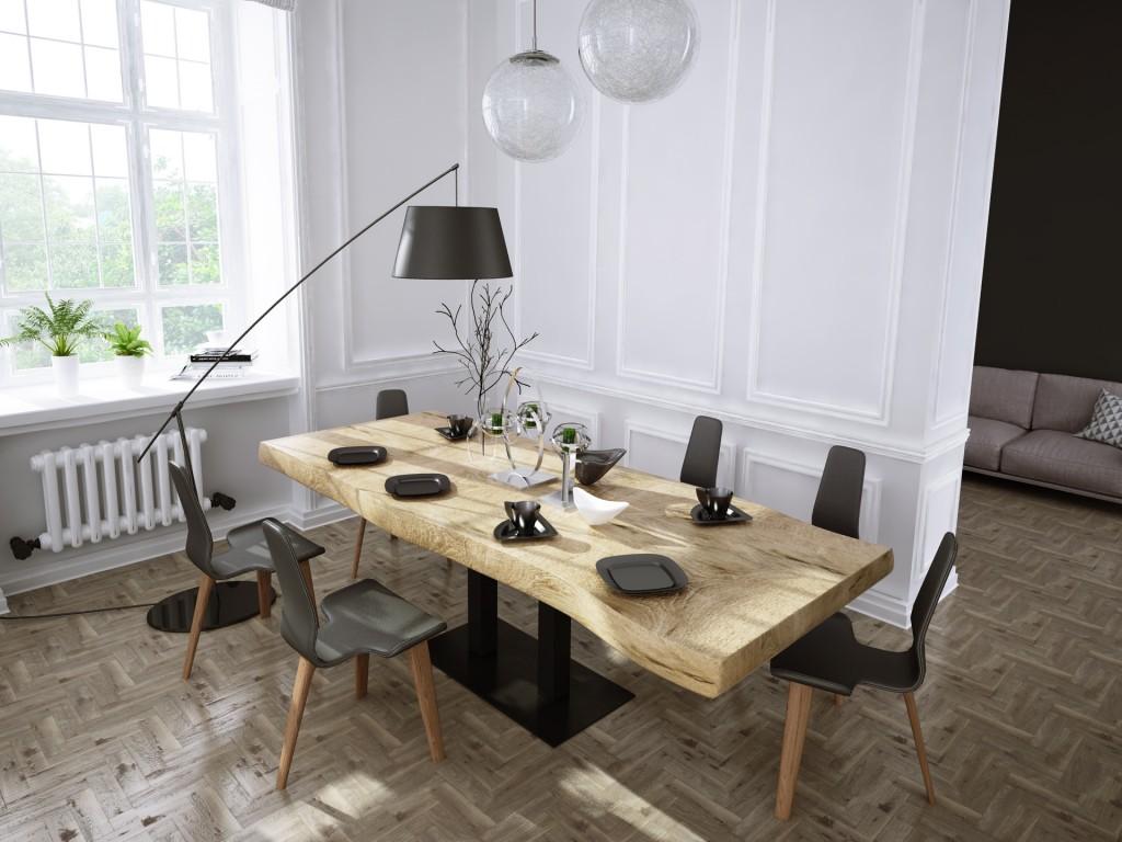 stół na postumencie yosimite natur 2