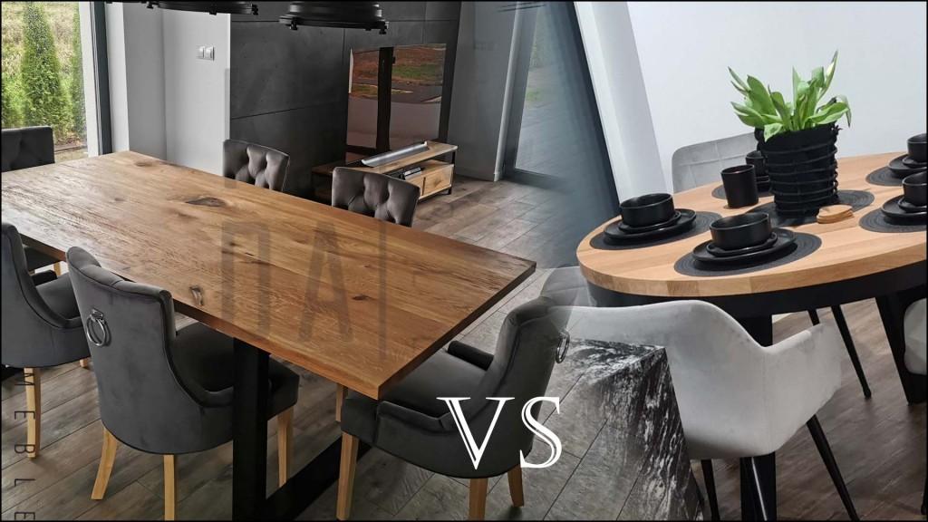 stół okrągły czy prostokątny, a może owalny, jaki stół wybrać do jadalni